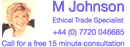 MJOHNSON ETHICAL TRADE SPECIALIST LIMITED